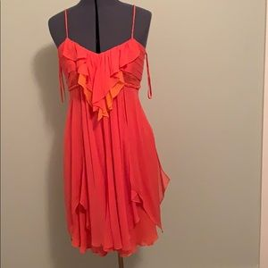 DVF coral dress